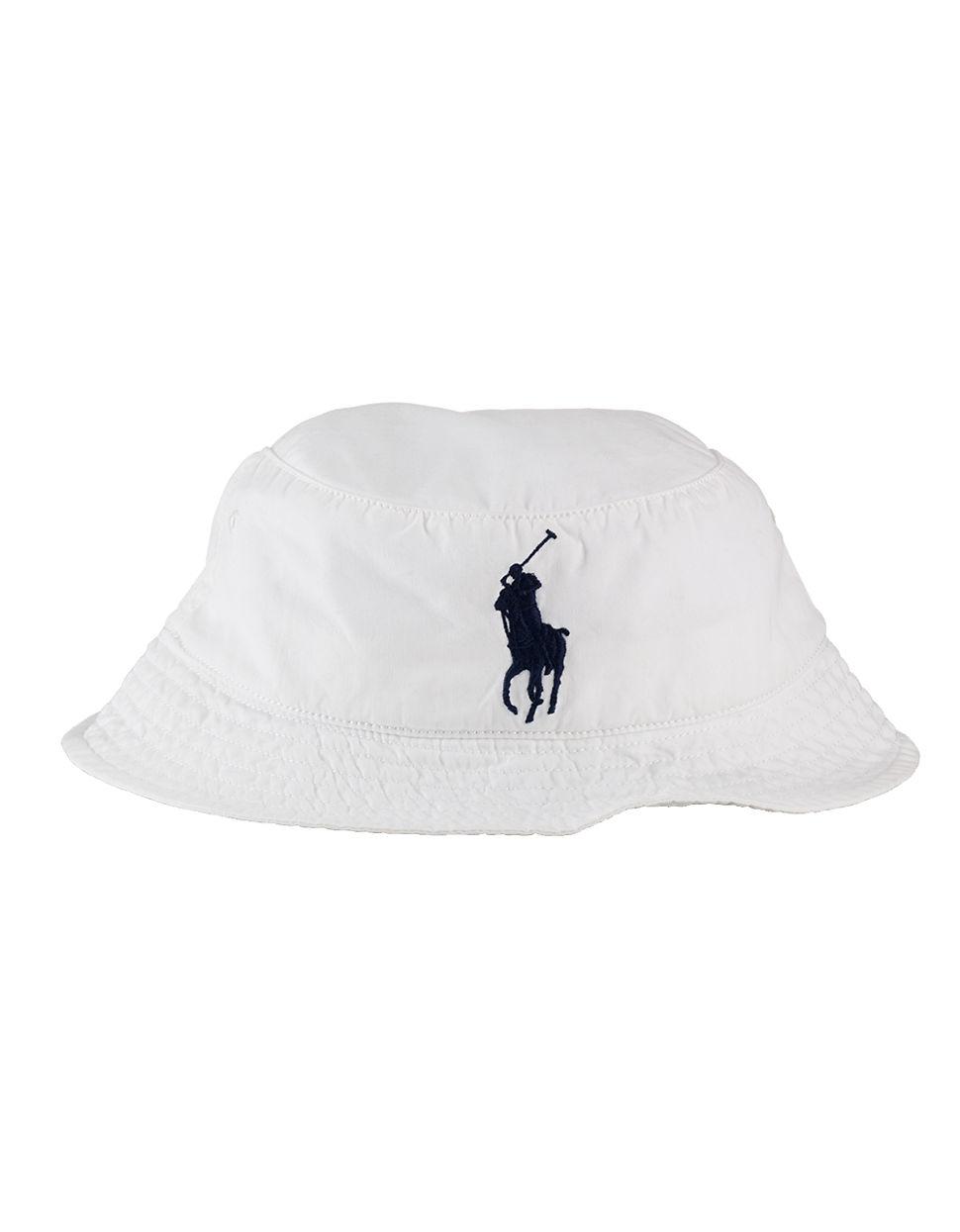 polo ralph lauren beachside bucket hat in white for men lyst