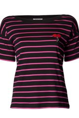 Sonia By Sonia Rykiel Lipstick Striped T-shirt - Lyst