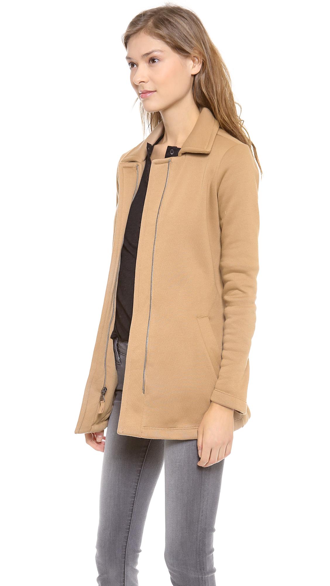 Splendid Seneca Fleece Car Coat in Natural | Lyst