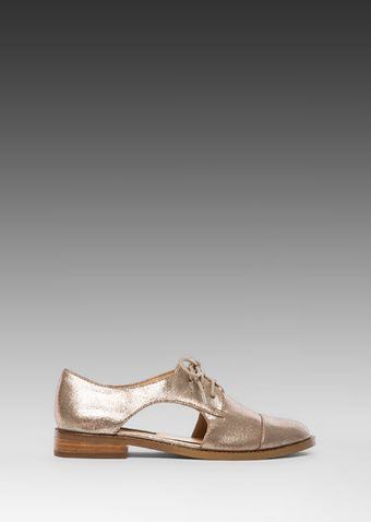 Steven Allover Oxford in Metallic Gold - Lyst