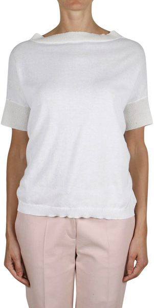 Ter Et Bantine Cotton and Cashmere Top with Back Neckline - Lyst