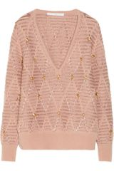 Thakoon Addition Beaded Wool Blend Sweater - Lyst