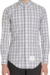 Thom Browne Check Poplin Shirt - Lyst