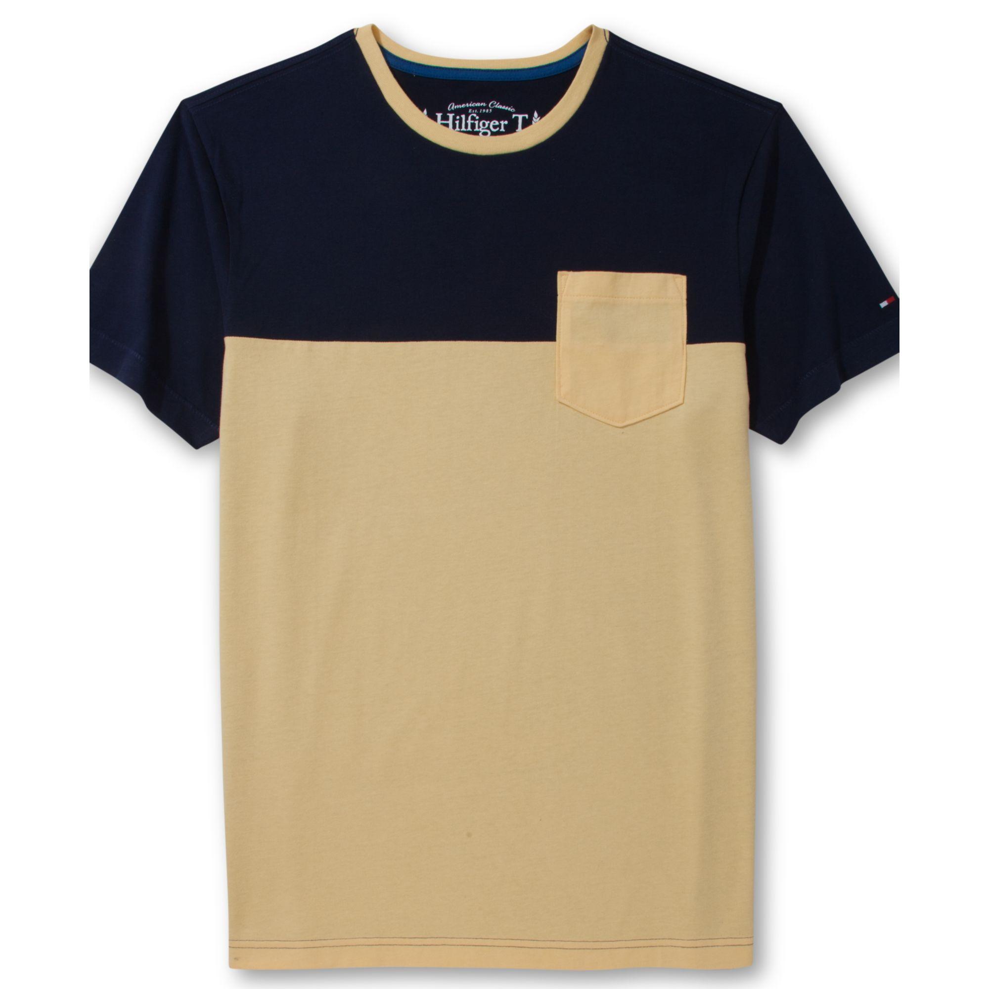 tommy hilfiger black kale pocket tshirt in beige for men. Black Bedroom Furniture Sets. Home Design Ideas