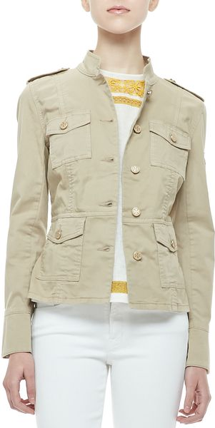 Tory Burch Sergeant Military Jacket - Lyst