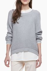 Vince Ribbed Knit Raglan Sweater - Lyst