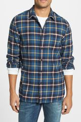 Wallin & Bros. Signature Regular Fit Flannel Sport Shirt - Lyst