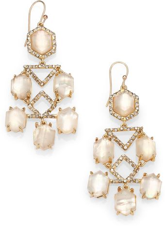 Alexis Bittar Motherofpearl Doublet Crystal Chandelier Earrings - Lyst