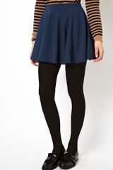 Asos Skater Skirt in Rib - Lyst