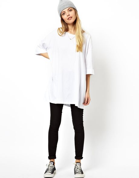 womens tops t shirts asos tops asos white oversized tshirt t shirt by. Black Bedroom Furniture Sets. Home Design Ideas