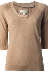 Burberry Bow Detail Top - Lyst
