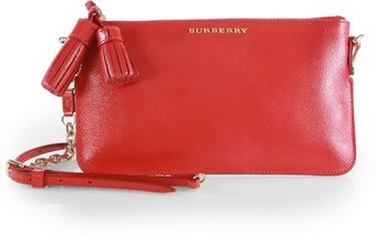 Burberry Prorsum London Patent Saffiano Leather Convertible Clutch - Lyst