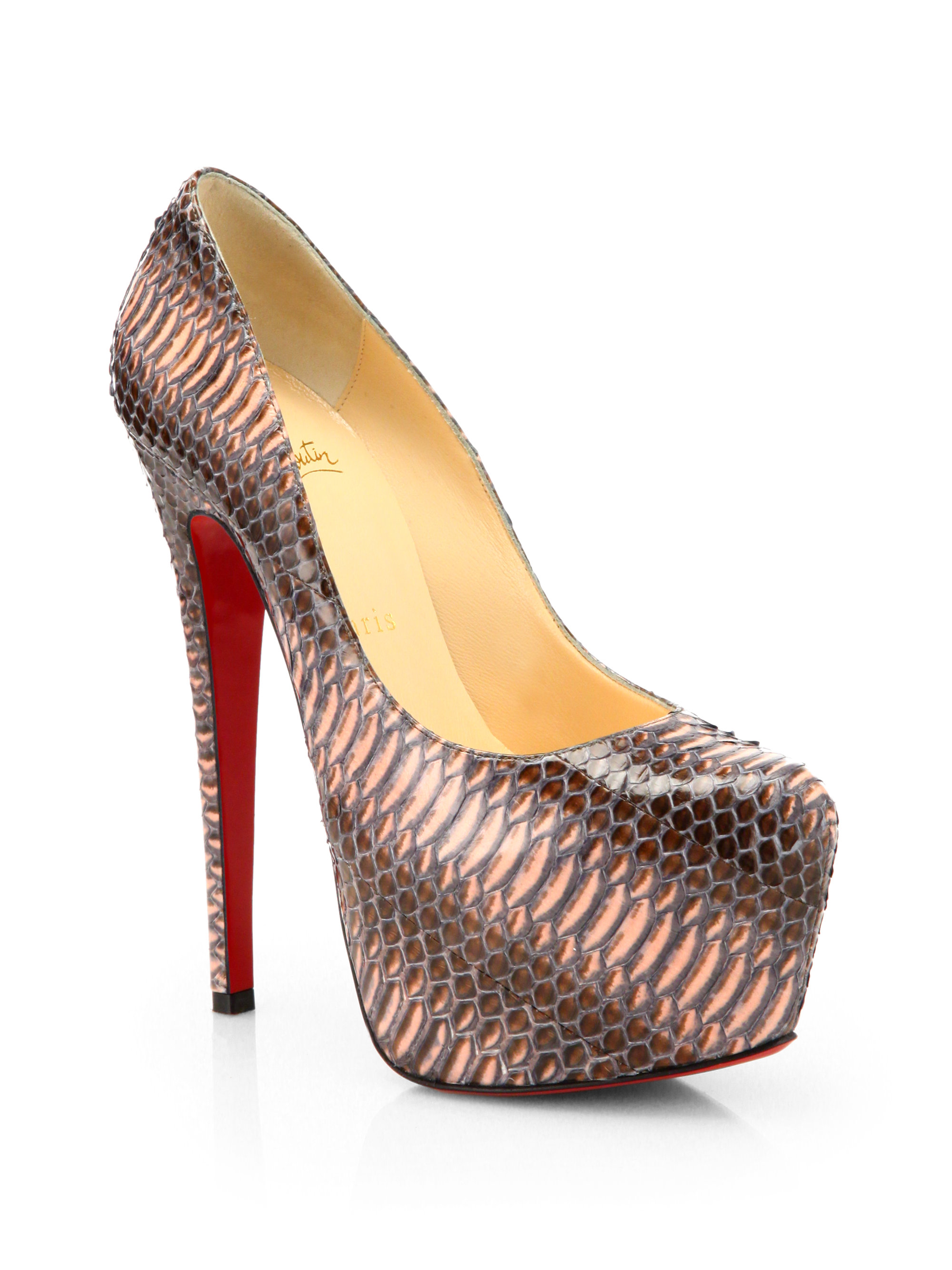 Christian Louboutin Daffodile Python Pumps discount best store to get buy cheap discounts free shipping affordable new arrival for sale cheap pick a best A3hyD