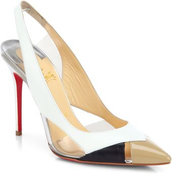 Christian Louboutin Air Chance Geometric Slingback Pumps - Lyst