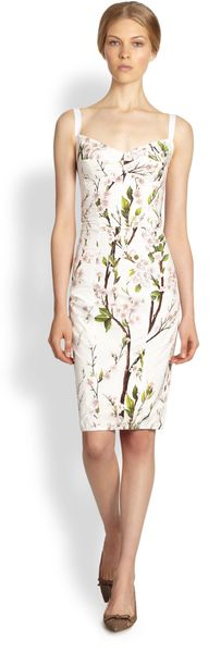 Dolce & Gabbana Floral Pencil Dress - Lyst
