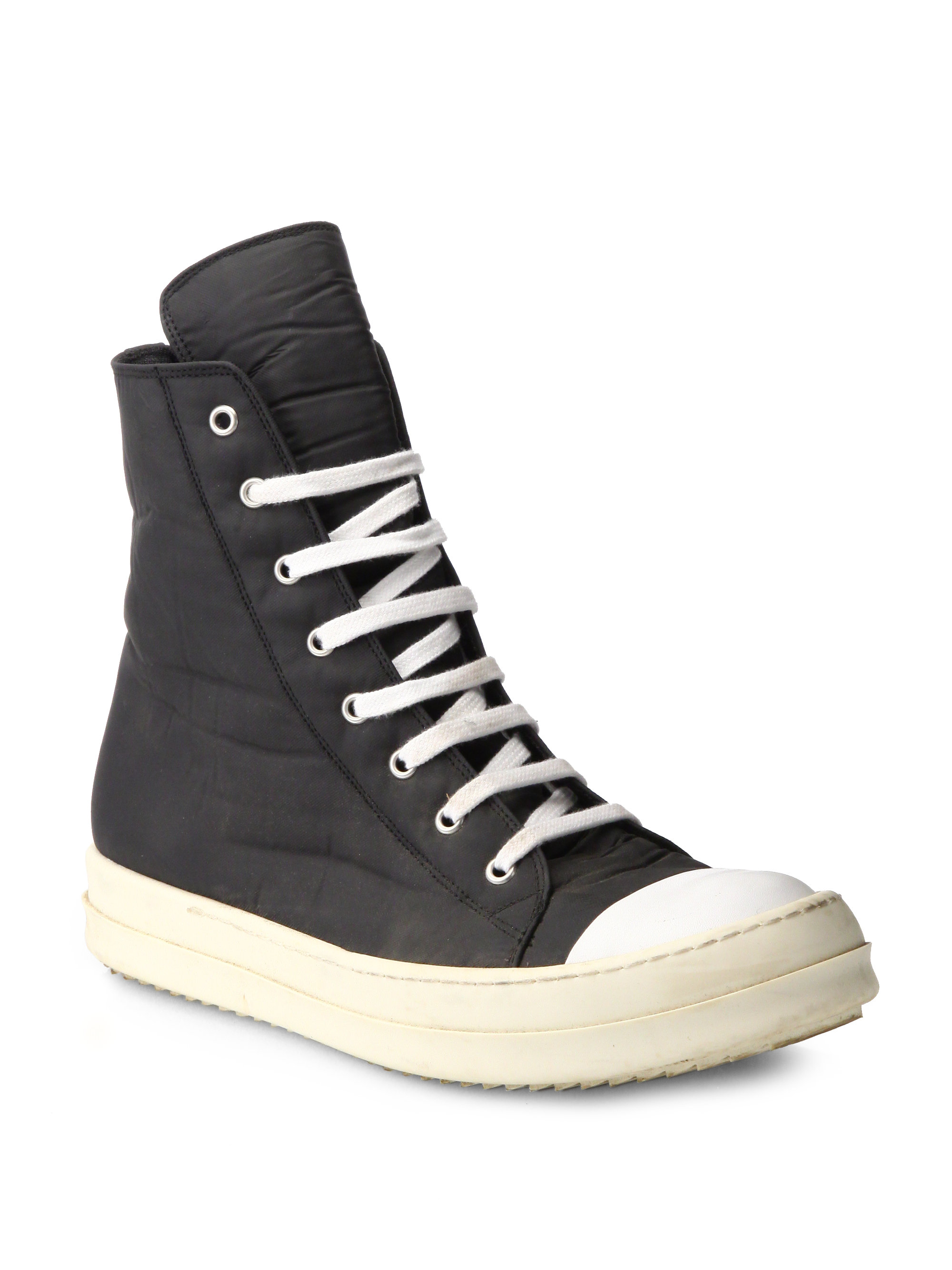 Rick Owens Nylon Canvas Cap Toe High-Top Sneakers Free Shipping Low Price Cheap Shopping Online Free Shipping Discounts phbaCwpT
