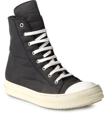 DRKSHDW by Rick Owens Ramones Canvas Hightop Sneakers - Lyst
