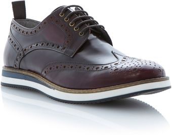 Dune Brotherhood Polido Brogue On Sporty Shoe - Lyst