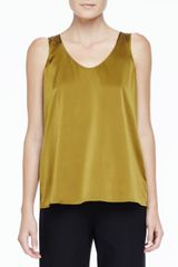 Eileen Fisher Charmeuse V-neck Tank - Lyst