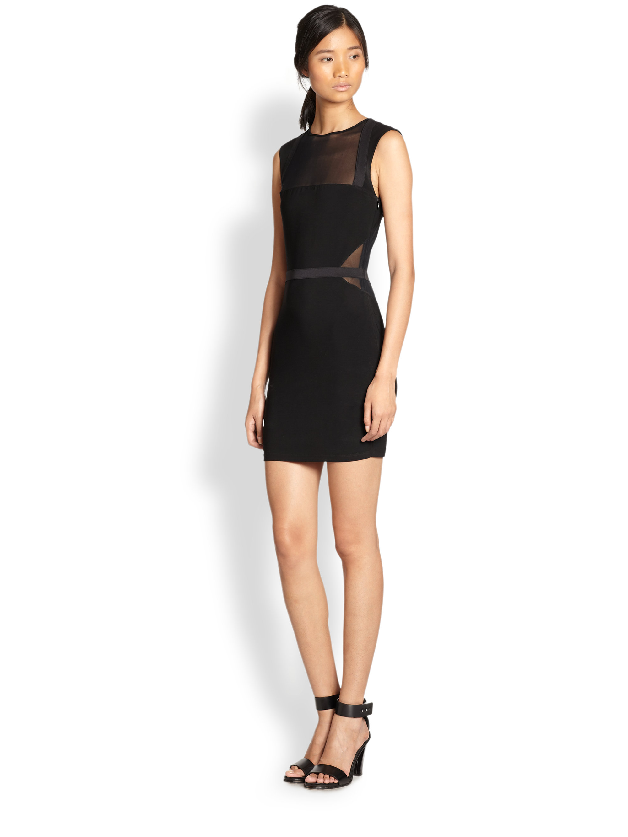 Elizabeth andjames sheer black dress