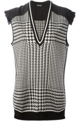 Emanuel Ungaro Houndstooth Check Sleeveless Sweater - Lyst