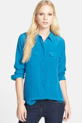 Equipment Slim Signature Silk Shirt - Lyst