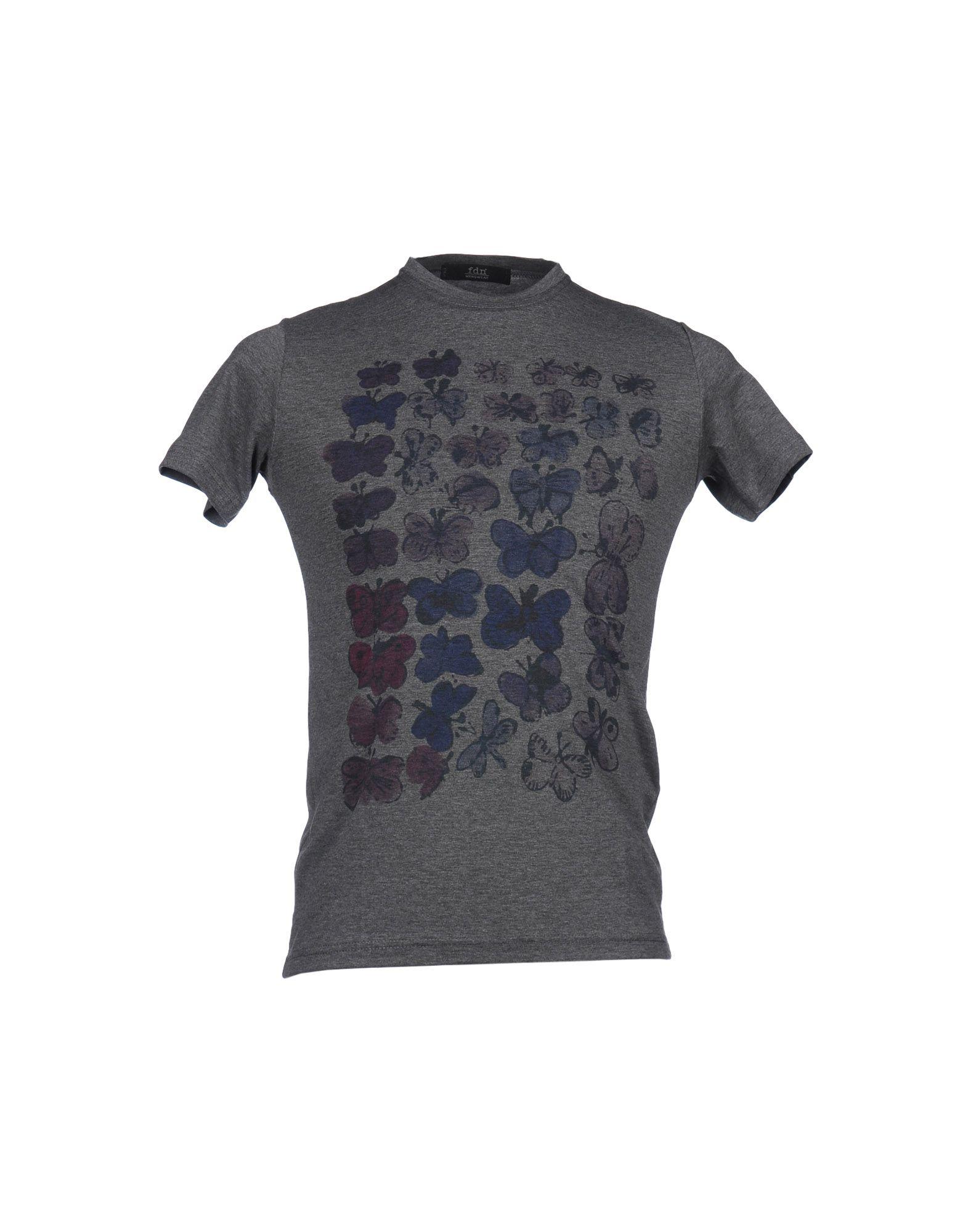 Lyst fdn short sleeve t shirt in gray for men for Bradley wiggins tattoo sleeve