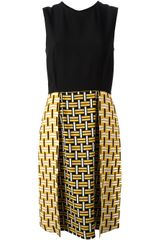 Fendi Bi Colour Sleeveless Dress - Lyst