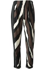 Fendi Striped Straight Leg Trouser - Lyst