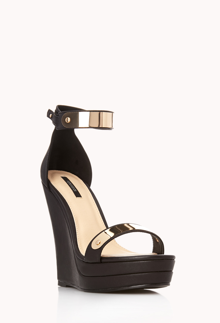 Black And Gold Heels Forever 21