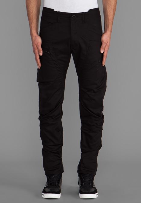G-star raw Powel 3d Tapered in Black in Black for Men