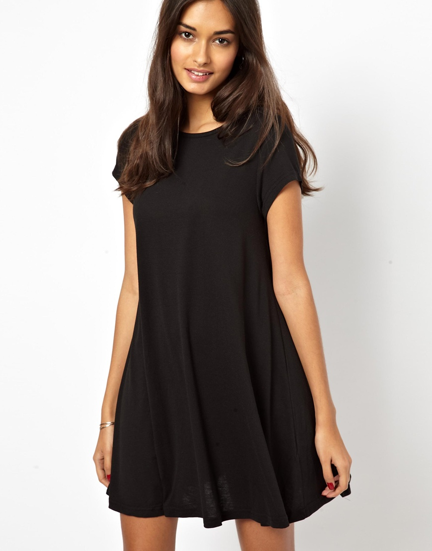 Black Swing Dress with Sleeves