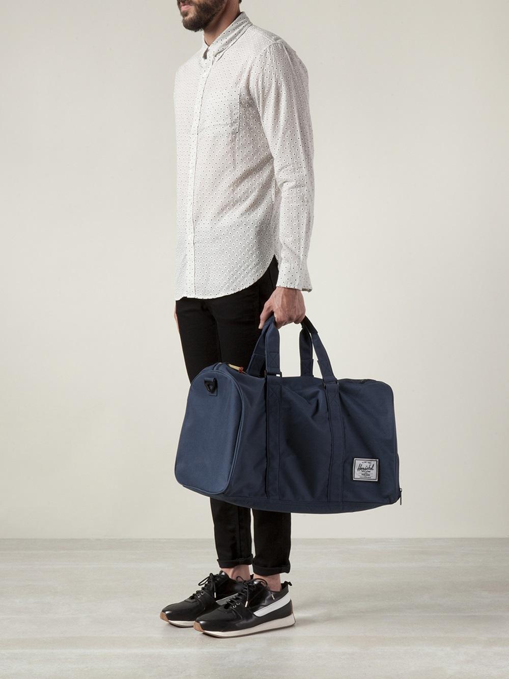 Lyst - Herschel Supply Co. Novel Knit Duffle Bag in Blue for Men 6f75b30f92f12