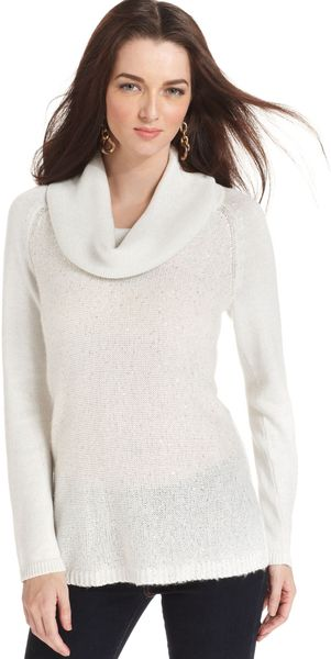 Jones New York Longsleeve Sequin Sweater - Lyst