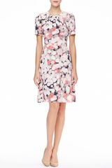 Kate Spade Joilet Shortsleeve Printed Silk Dress - Lyst