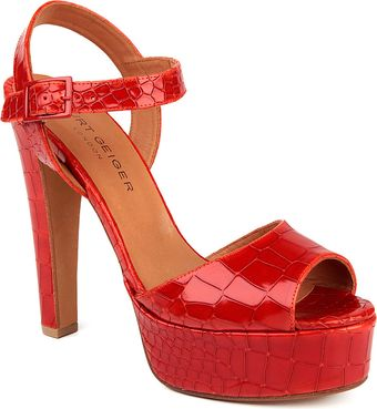 Kurt Geiger Gen Leather Platform Sandals - Lyst