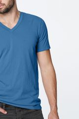 Lightweight Jersey Short Sleeve V-neck - Lyst
