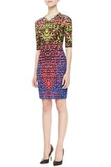M Missoni Lizard Print Jacquard Half Sleeve Dress - Lyst