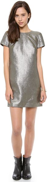 Madewell Metallic T Shirt Dress - Lyst