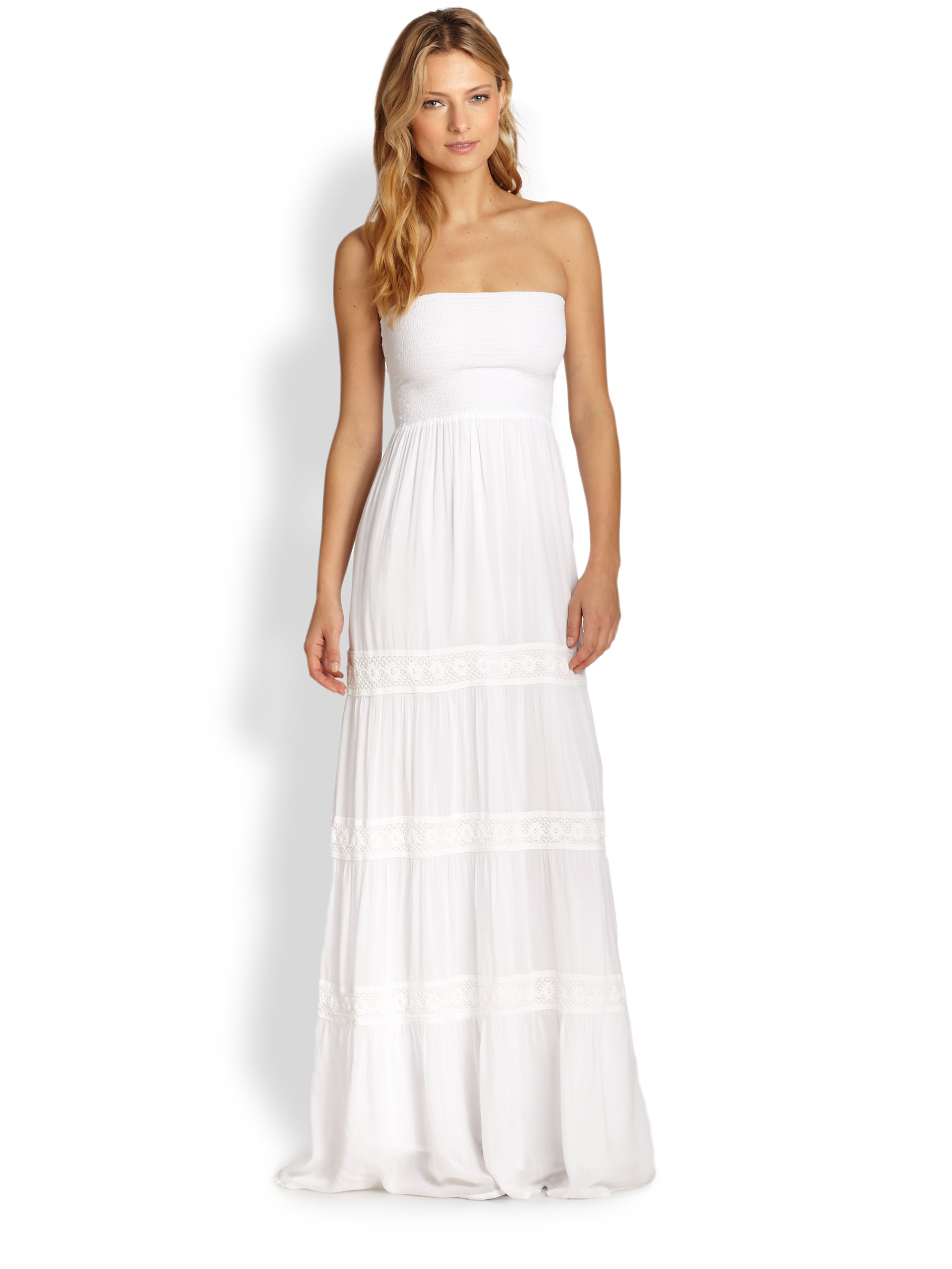Lyst Melissa Odabash Strapless Maxi Dress In White