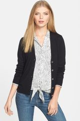 Michael by Michael Kors Front Button Vneck Cardigan - Lyst