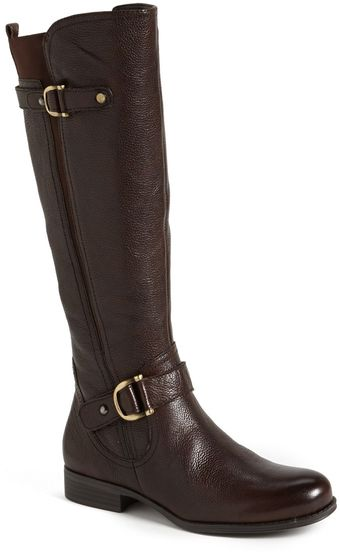 Naturalizer Jersey Leather Riding Boot - Lyst