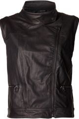 Rag & Bone Moto Leather Vest - Lyst
