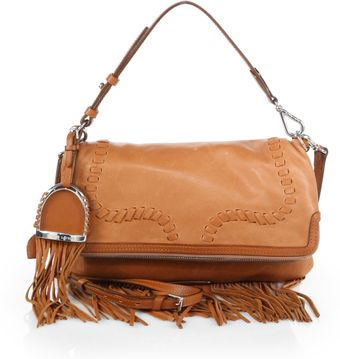 Ralph Lauren Collection Whipstitch Foldover Convertible Clutch - Lyst
