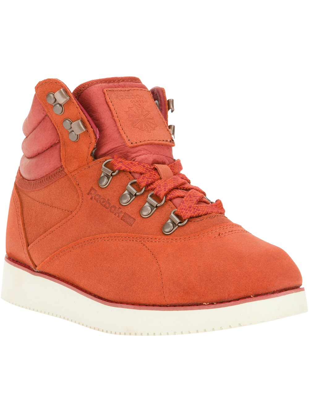 Reebok Freestyle Hi Boot In Red Lyst
