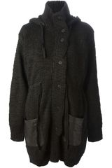 Thakoon Addition Leather Detail Cardigan - Lyst