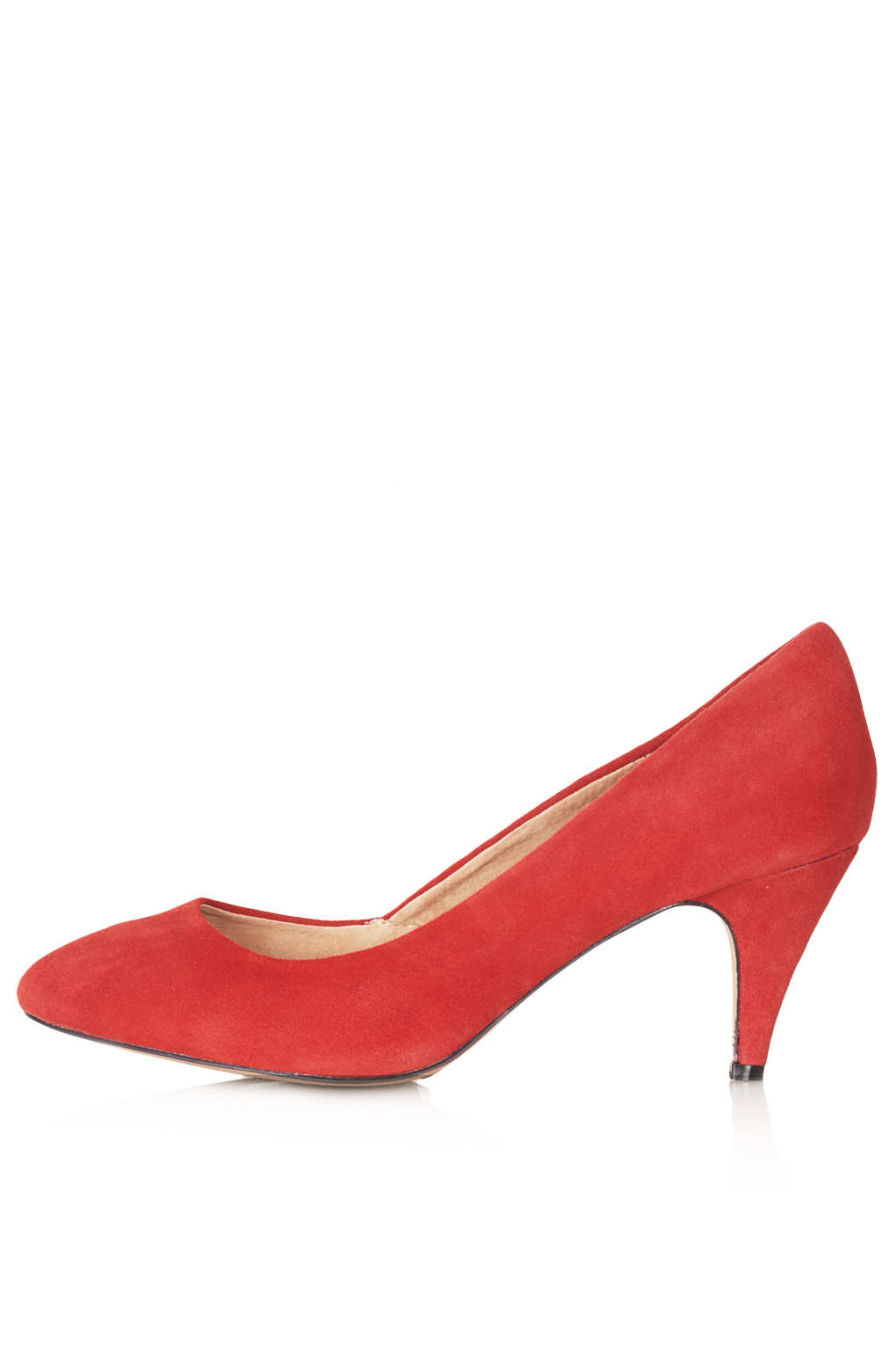 Topshop Maple Mid Heel Leopard Courts in Red | Lyst