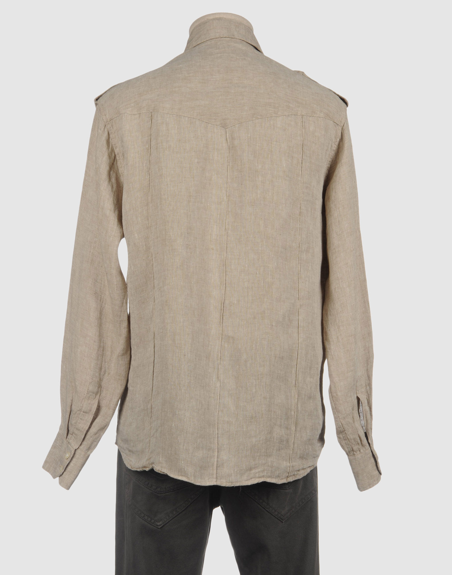 Age Long Sleeve Shirt In Gray For Men Light Grey Lyst