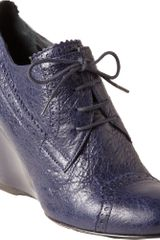 Balenciaga Arena Brogues Derby Wedge - Lyst