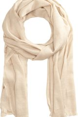 Barneys New York Fringed Lurex Scarf - Lyst